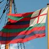 Ship's flag at Jamestown Settlement