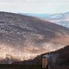 Snow-covered mountains near Wintergreen Ski resort