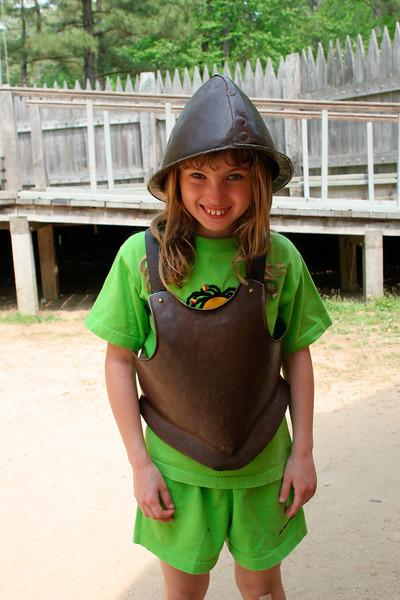 Having fun with armor - Jamestown Settlement