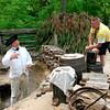 Reenactor and tourists - Yorktown Battlefield