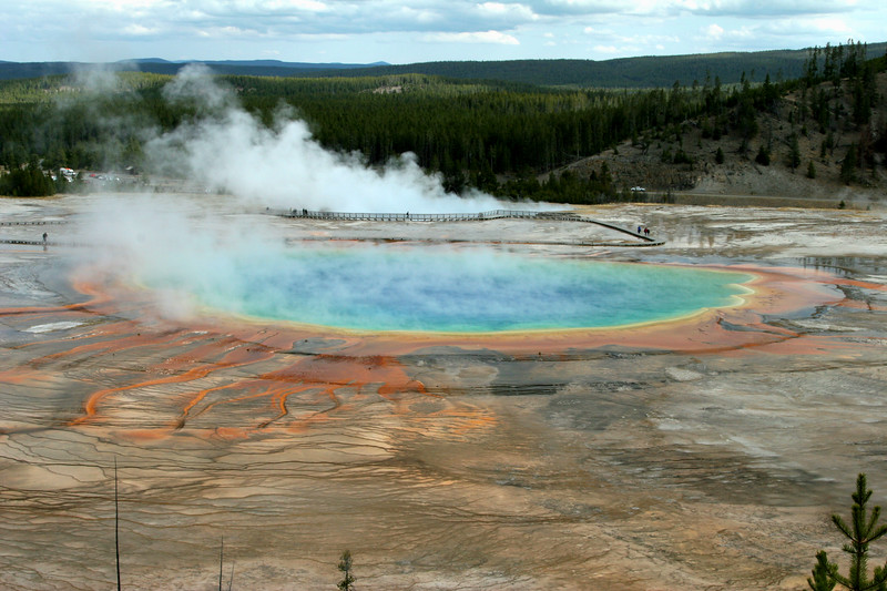 Grand Prismatic Spring in the Lower Geyser Basin