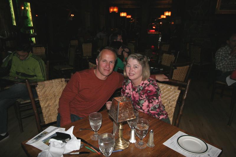 Following dinner in the Old Faithful Inn Dining Room