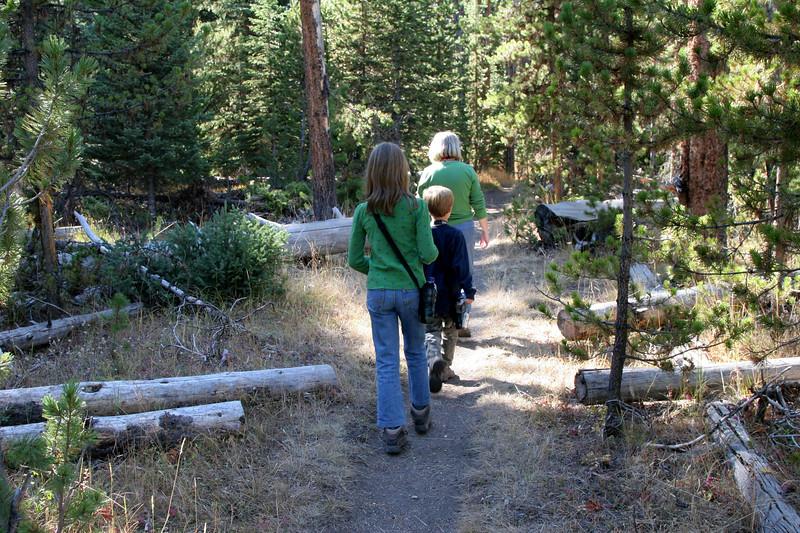 Hiking at Pelican Creek