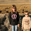 The kids on the Lamar Valley road