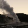 Old Faitful - steam phase - dawn