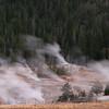 Upper Geyser Basin - steam at dawn