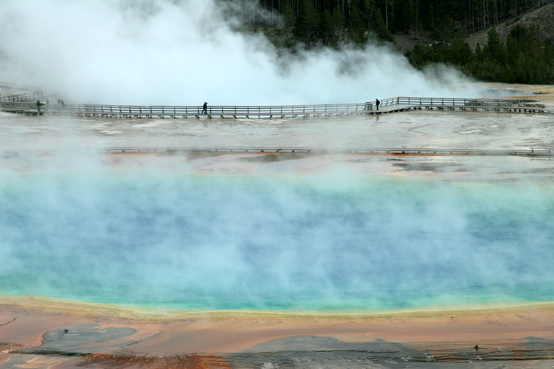 Ask Rangers how to get to the trail overlooking Grand Prismatic Spring - it is worth the short climb.