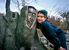 "Two Friends with Braces<br /> <br /> I couldn't Resist adding this picture of my 11 year old nephew (back in 1998) and Bokov's ""Old Man"" totem showing off their braces.<br /> <br /> One of my favorites. Too bad that the Old Man is no longer with us."