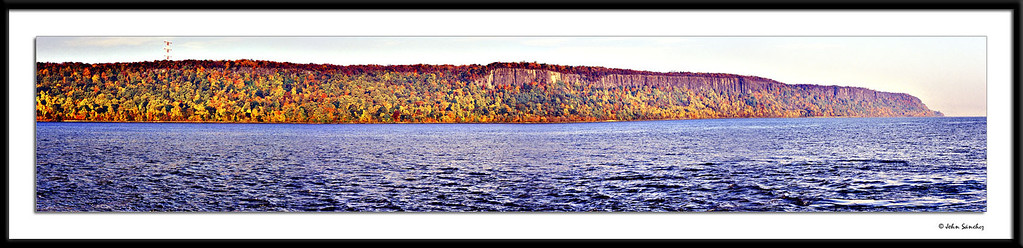 Autumn Panorama of ther Jersey Palisades at Sunrise