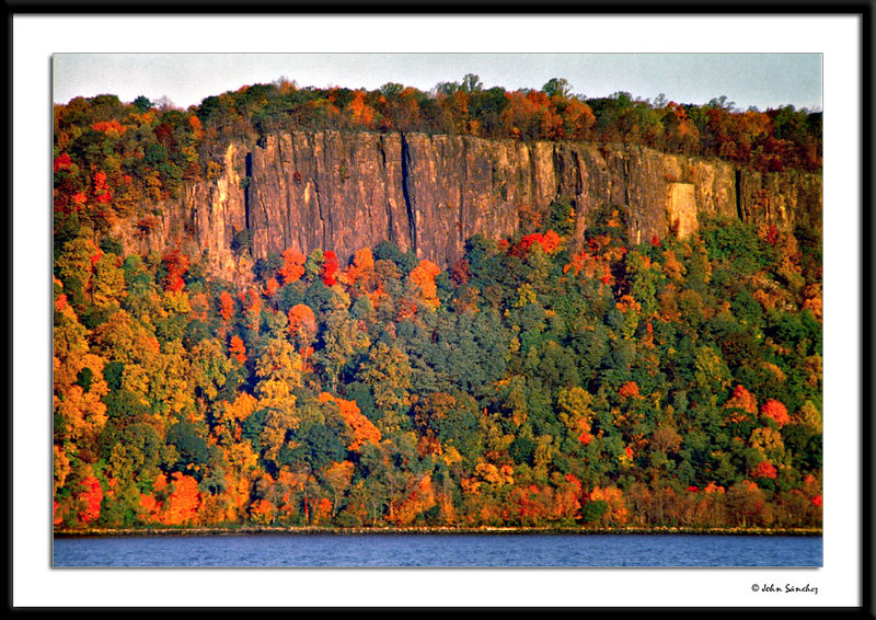 New Jersey Palisades at Sunrise, Dressed in their Autumn Splendor