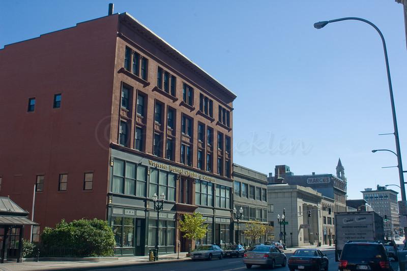 Former Bernard's (Burnside) Building, Worcester County Bank and Marc/kus buildings.