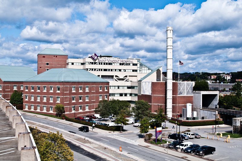 Saint Vincet Hospital, AKA Med City.