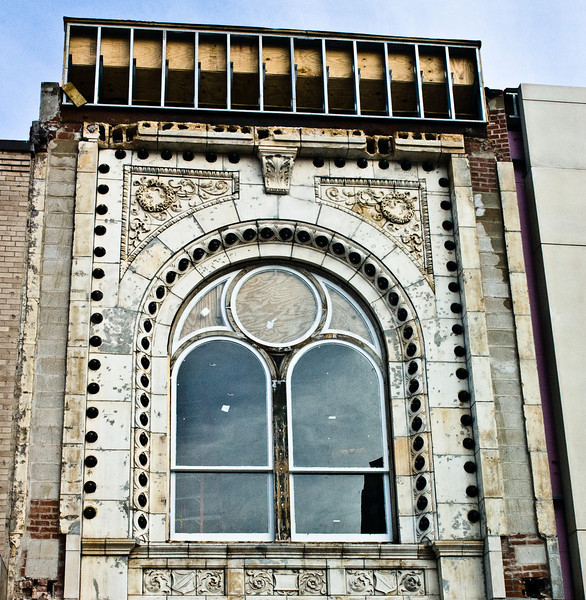 Hanover Theatre detail during renovation.