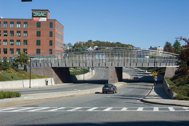 Rail bridge downtown.