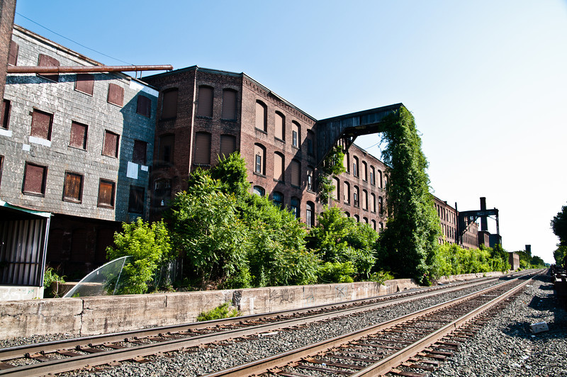 Old Crompton-Knowles building. Providence-Worcester Rail lines.