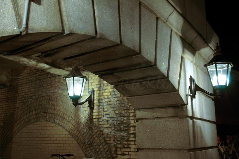 Lantern lights in passageway at Union Station.