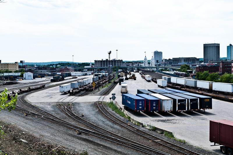 A somewhat busy CSX Intermodal Yard.