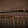 Manhattan and Williamsburg Bridges at night