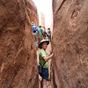 Slot canyons in the Fiery Furnace