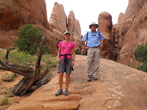 Hiking in Fiery Furnace