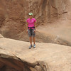 Beginning  the hike in Fiery Furnace of Arches N.P.