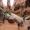 Beginning the hike in the Fiery Furnace, Arches N.P.