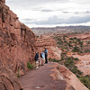 Hiking back from the Delicate Arch