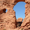 Turret Arch, from the Windows Section trail<br /> <br /> Arches National Park, Utah<br /> April 2009