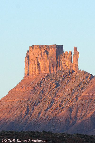 "the ""bishop"" rock formation<br /> <br /> near Moab, Utah<br /> April 2009"