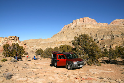First night, car camping site.  On BLM land East of Capitol Reef Nat'l Park
