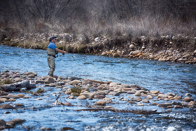 Fisherman on the Weber River