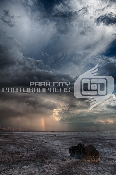 Rainbow in the storm