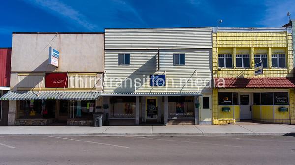 Saturday morning on Main Street in Salina, Utah