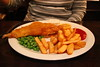 Fish and chips at Tattersall Tavern