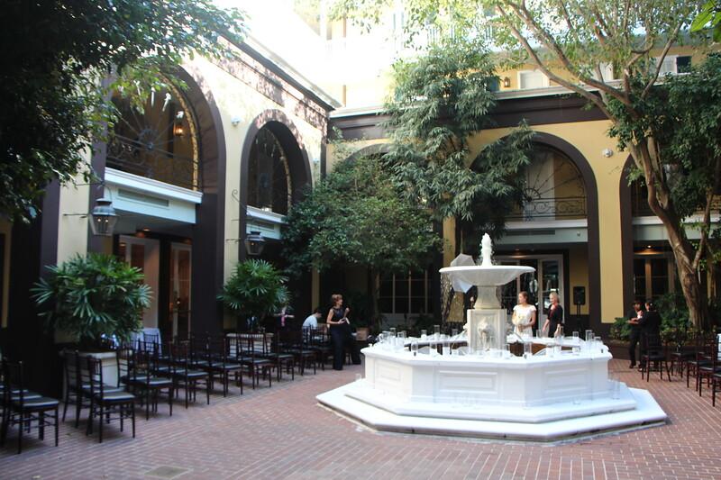 Courtyard of Hotel Mazarin