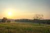 valley forge landscape at sunset