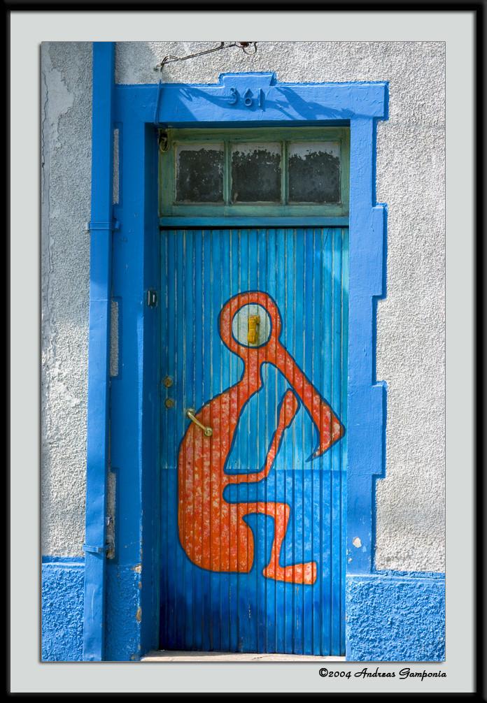 Perhaps the door to an artist's home?