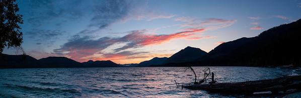 Sunset on Lake Cowichan