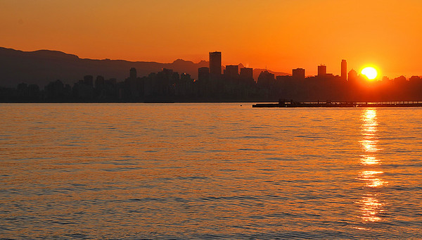 Sunrise over Vancouver