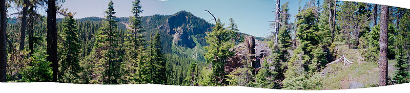 1997 - Three Sisters Wilderness Backpack Trip - Day4_Pano