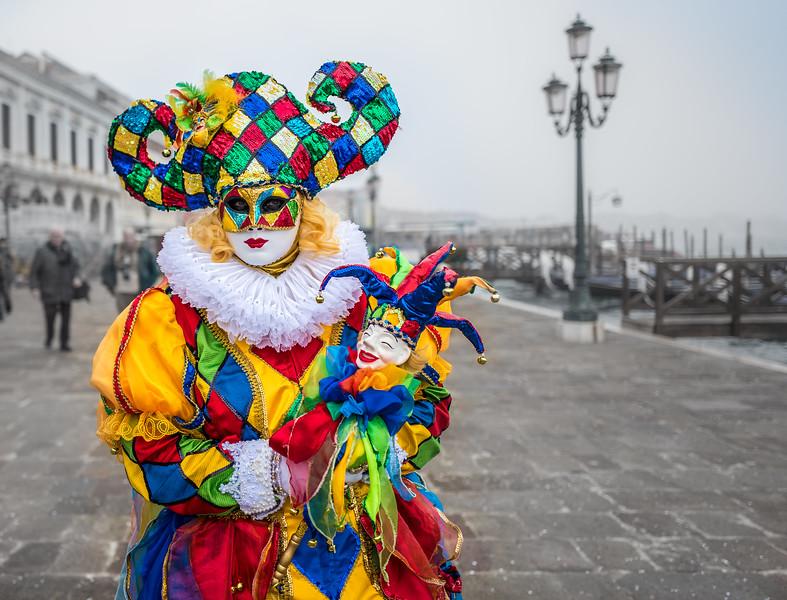 Colombina in fog, Venice Carnival 2017