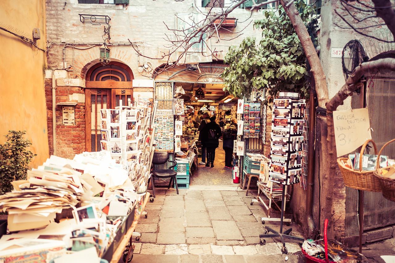 A bookstore in Venice