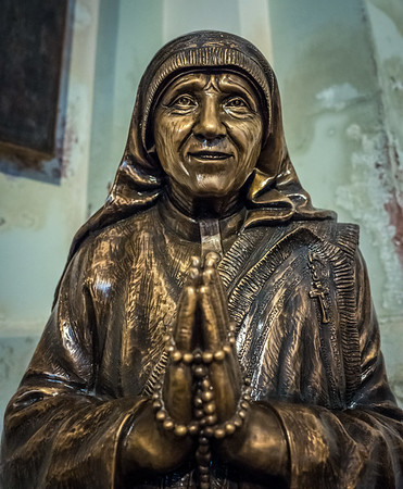 Mother Theresa in a church on Burano