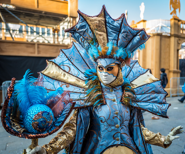 Masked parade during Carnival in Venice
