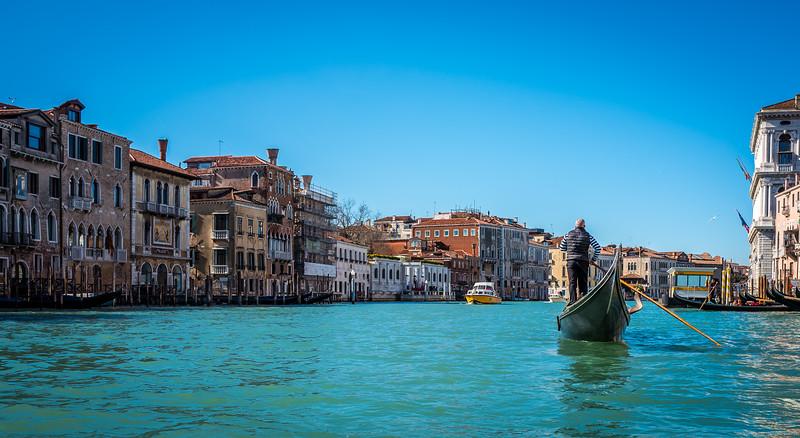 Gondola in Grand Channel, Venice