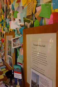 The remembrance wall of Dog Chapel at Dog Mountain in St. Johnsbury, VT.
