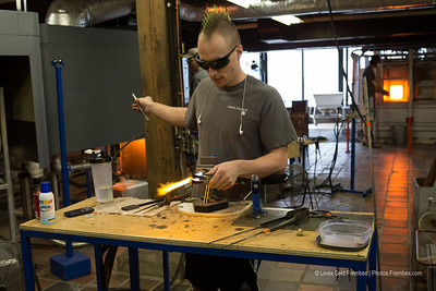 Glassblowing at Simon Pearce in Quechee, Vermont. - March 2013