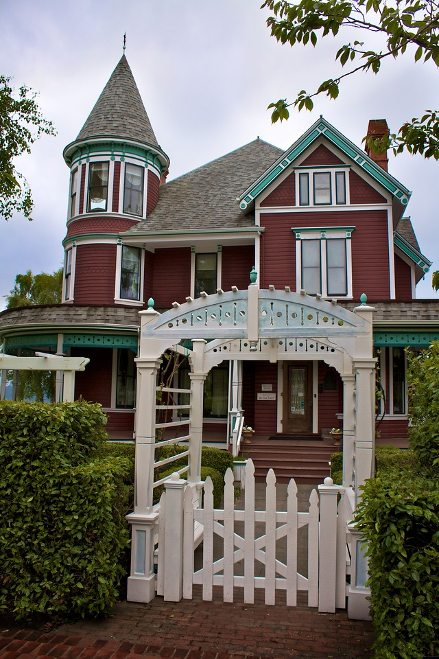 Local home with Victorian flair.