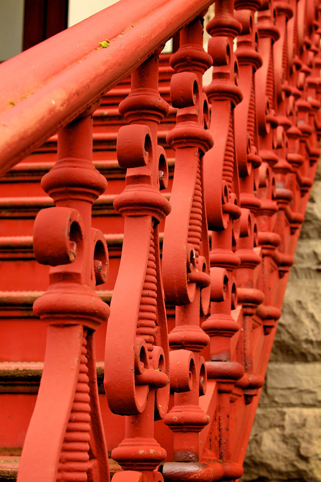 Iron railing at the Jefferson County Courthouse.