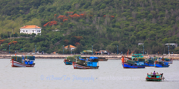 Fishing boats in Vung Tau bay.